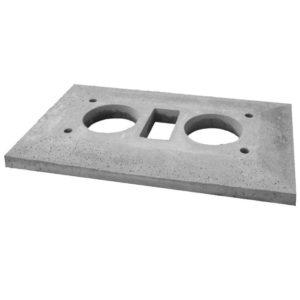Консольная плита для двухходового дымохода с вентиляцией