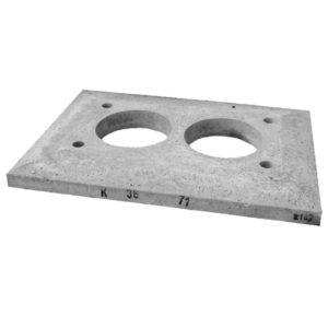 Консольная плита для двухходового дымохода без вентиляции