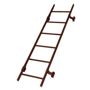 Кровельная лестница престиж фальц RAL8017