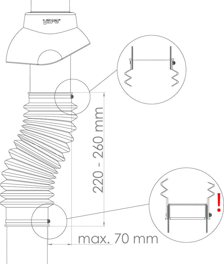 Труба гофрированная 110 Vilpe