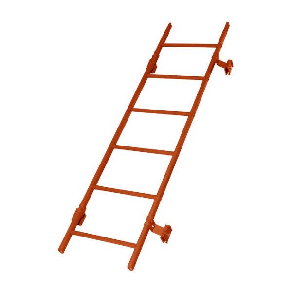 Кровельная лестница престиж фальц RAL8004