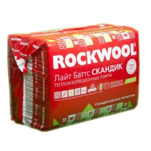 ROCKWOOL Лайт Баттс Скандик толщина 50 мм базальтовый утеплитель