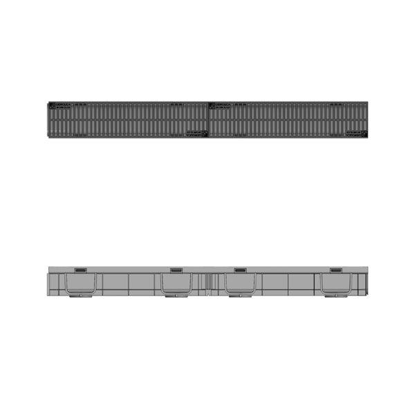 Комплект Gidrolica Light DN90 лоток пластиковый с решеткой пластиковой Н95