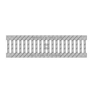 Решетка ливневая чугунная щелевая DN100 оцинкованная
