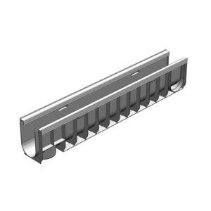 Пластиковый водоотводной лоток Gidrolica Standart Plus DN100 усиленный H185