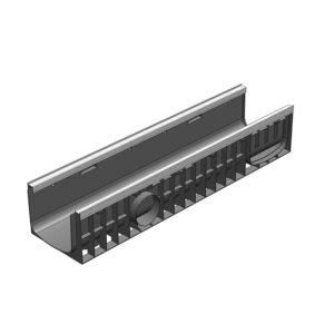 Пластиковый водоотводной лоток Gidrolica Standart Plus DN200 усиленный H185