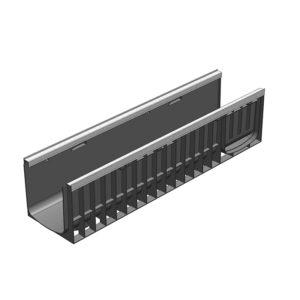 Пластиковый водоотводной лоток Gidrolica Standart Plus DN200 усиленный H235