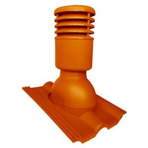 Вентиляционный выход 125/110 Euorovent Warm терракотовый