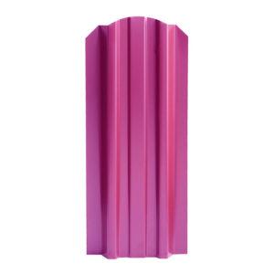Металлический штакетник Эконом 106 мм вишня