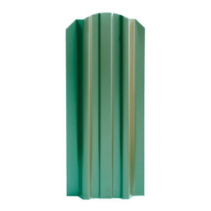 Металлический штакетник Эконом 106 мм зеленый