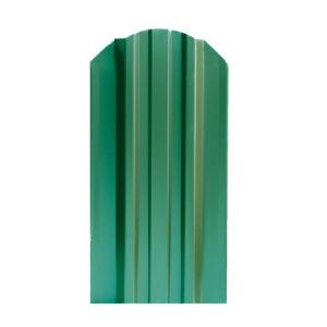 Металлический штакетник Стандарт 124 мм зеленый