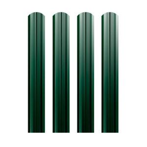 Металлический штакетник М-образный 74 мм зеленый