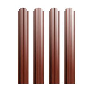 Металлический штакетник П-образный 100 мм коричневый