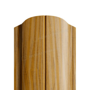 Металлический штакетник МП ELLIPSE под дерево золотой дуб