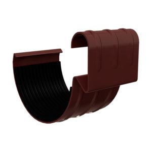 Соединитель желоба МП Гранд Систем коричневый RAL8017