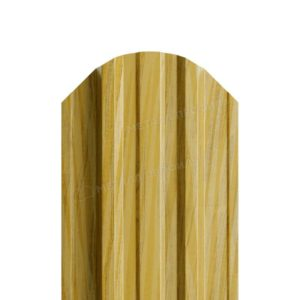 Металлический штакетник МП TRAPEZE под дерево золотой дуб текстурированный