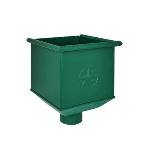 Воронка водосборная Aquasystem зеленый RAL6005 PURAL