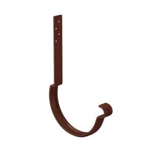 Крюк крепления желоба длинный Aquasystem коричневый RAL8017 PURAL