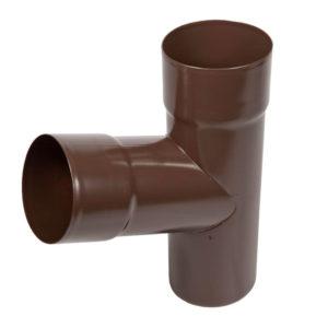 Тройник трубы Aquasystem коричневый RAL8017 PURAL