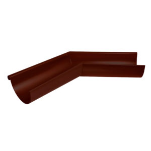 Угол желоба наружный 135º Aquasystem коричневый RAL8017 PURAL