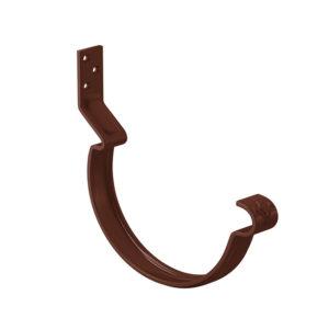 Крюк крепления желоба короткий Aquasystem коричневый RAL8017 PURAL