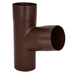 Тройник трубы Aquasystem коричневый RAL8017 PURAL MATT