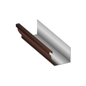 Желоб водосточный МП Модерн 3 метра коричневый