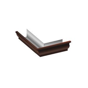 Угол желоба 90º внешний МП Модерн коричневый