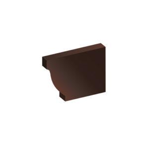 Заглушка желоба МП Модерн коричневый