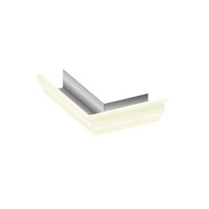 Угол желоба 90º внешний МП Модерн белый