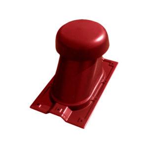 Выход универсальный МП Ø110/200 на профнастил МП-20 красный