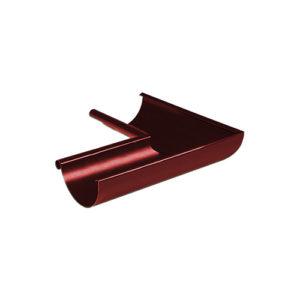 Угол желоба внутренний 90° МП Престиж вишня RAL3005