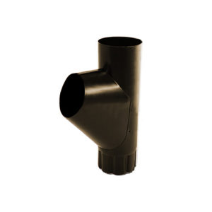 Тройник трубы МП Престиж темно-коричневый RR32