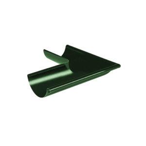 Угол желоба наружный 90° МП Престиж зеленый RAL6005