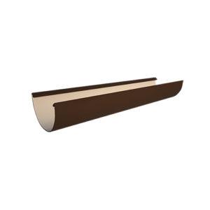 Желоб водосточный МП Проект 3 метра коричневый