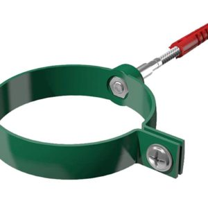 Хомут трубы с дюбелем Verat Технониколь зеленый