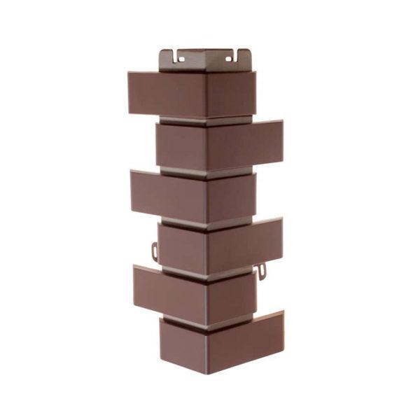 Фасадные углы Альта Профиль Кирпич клинкерный коричневый
