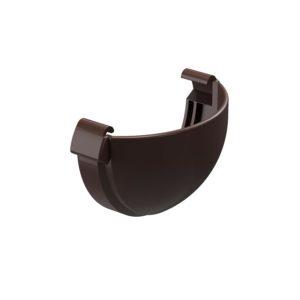 Заглушка желоба Docke Lux шоколад Ø141/100 мм
