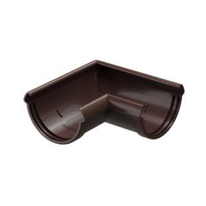Угловой элемент желоба 90° Docke Lux шоколад Ø141/100 мм