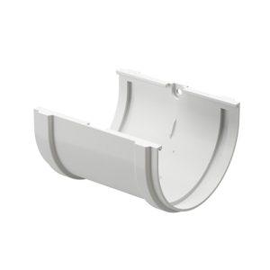 Соединитель желобов Docke Premium пломбир Ø120/85 мм