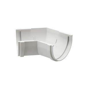 Угловой элемент желоба 135° универсальный Docke Premium пломбир Ø120/85 мм