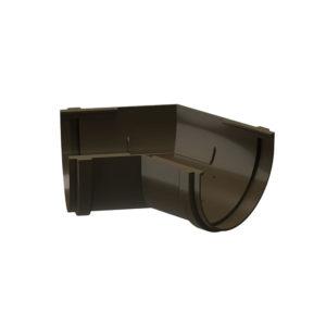 Угловой элемент желоба 135° универсальный Docke Premium шоколад Ø120/85 мм