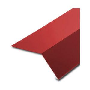 Планка карнизная (капельник) для битумной черепицы красный