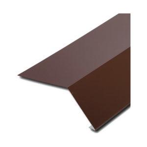 Планка карнизная (капельник) для битумной черепицы коричневый