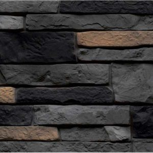 Фасадные панели Nailite Stacked Stone Premium антрацит