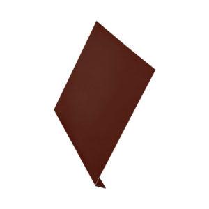 Ветровая планка (L-профиль) Aquasystem 2 метра Алюминий коричневый