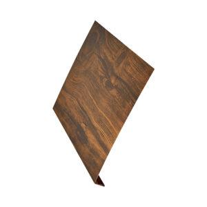 Ветровая планка (L-профиль) Aquasystem 2 метра Printech темное дерево
