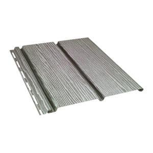 Ю-Пласт виниловый софит Timberblock сплошной 3,4 метра дуб серебристый
