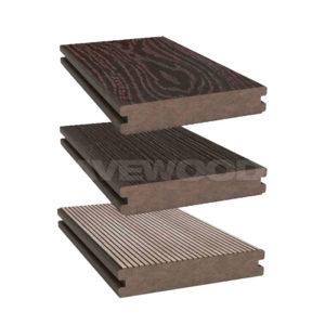Savewood Abies террасная доска полнотелая двухсторонняя темно-коричневый