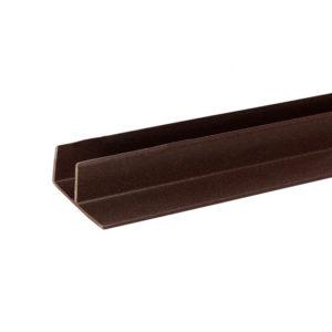 F-профиль для террасной доски Savewood темно-коричневый